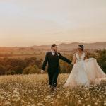 Wedding, sunset New Zealand